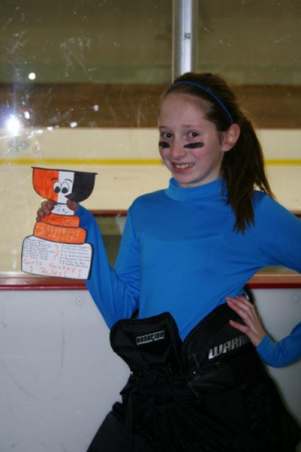 Erin Campbell shows off her Flat Stanley Cup at the Ponytail Tournament in York, Pa. where he helped cheer her on to the championship!: Photo submitted by Janice Campbell