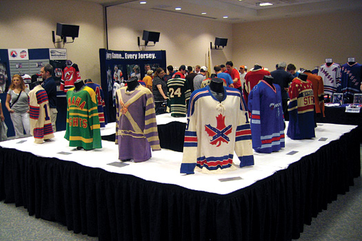 The Hockey Hall of Fame in Toronto brought some of its most precious jersey to the 2008 MeiGray Game Worn Jersey Expo in New Jersey.