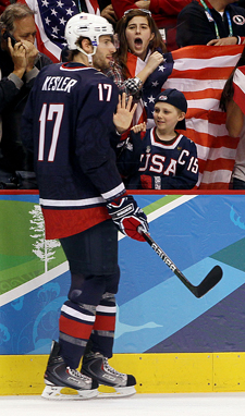 Ryan Kesler had a fine olympic showing.