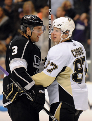 The best of friends at Shattuck-St. Mary's, Jack Johnson, left, and Sidney Crosby have crossed paths on NHL and Olympic ice.