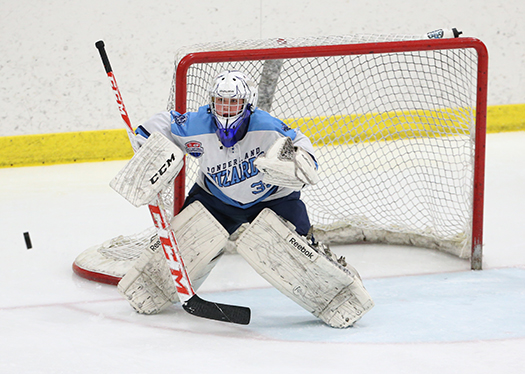 You want your goaltender to be centered, square and out on an angle to give himself or herself the best opportunity to make a difficult save look easy.