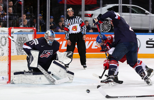 Connor Hellebuyck, a rising star in the Winnipeg Jets organization, was solid in goal for the United States, leading all tournament goaltenders in goals-against average and save percentage.