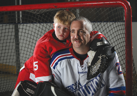 Dave Marley's recovery from a brain aneurysm has meant that both he and his son Logan have returned to the ice, and the game they love.