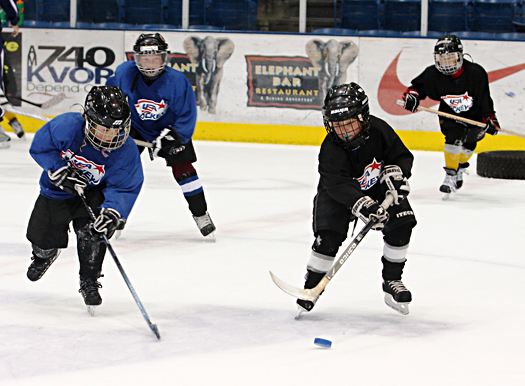 A typical ADM practice 'embraces the chaos' while allowing kids to have fun and work on their individual skills.
