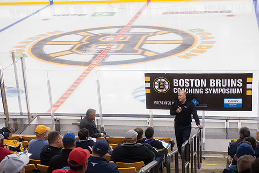 Ted Donato was among an impressive list of guest speakers who shared hockey knowledge with more than 500 coaches as part of the Bruins Coaching Symposium.