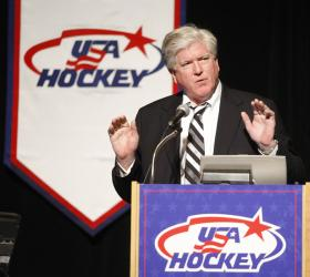 Brian Burke is looking forward to welcoming the hockey world to Toronto for the World Hockey Summit.