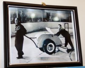 The many photos within the Colosseum's lobby serve as a nod to the rink's storied history.