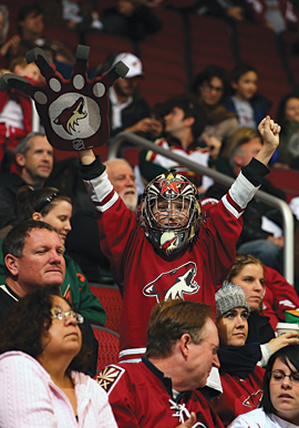 After a tumultuous offseason, the Coyotes are packing in the fans this season.