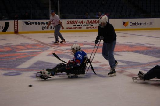 Sled Hockey teams, the Albany Cougars and the Long Island Rough Riders came out to take part in the day.