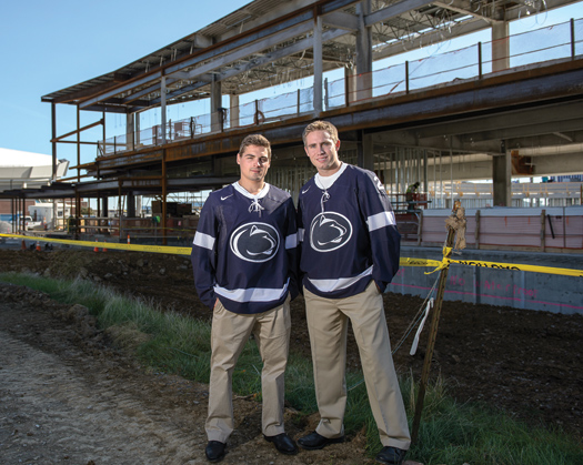 Twenty-six years after their fathers were roommates with the 1986 U.S. National Team, Nate Jensen (right) and Tommy Olczyk (left) are teammates and roommates at Penn State University.