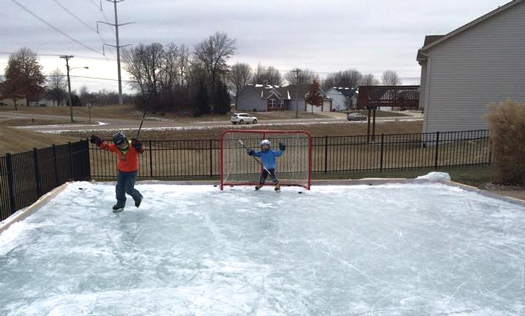 Ryan Shea's 12-year-old daughter Brinna and 8-year-old son Ryker show there's no limit to the fun they have in their backyard.