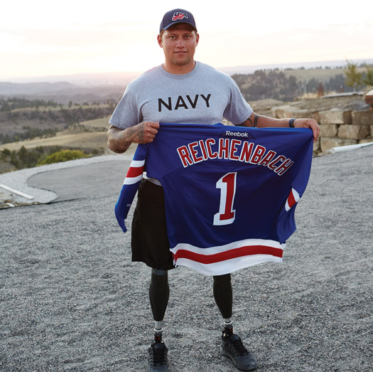 Whether it's his teammates with the U.S. National Sled Hockey Team or his comrades with the Navy SEALs, Bo Reichenbach impresses those around him with his work ethic and his character.