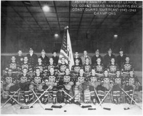 The 1942-44 U.S. Coast Guard Cutters/Clippers rosters included a number of Hockey Hall of Famers, including Frank 'Mr. Zero' Brimsek (Boston Bruins) and John Mariucci (Chicago Blackhawks).
