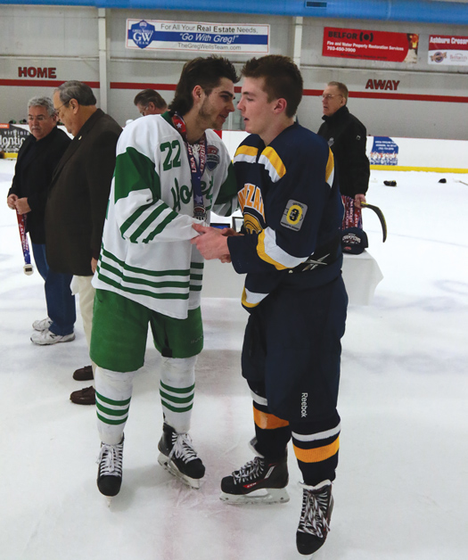 Fierce rivals on the ice, many of the players from both Edina and Wayzata, Minn., have a long history of tough competition and deep respect for each other.