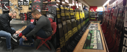 While large Internet hockey companies can offer their customers a larger variety of products at good prices, local rink pro shops serve their customers with excellent service provided by a knowledgeable staff of committed hockey professionals.