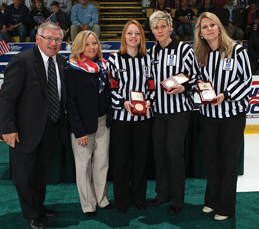 Dina Allen worked four games during the 2012 IIHF Women's World Championship, including the bronze-medal game between Switzerland and Finland.