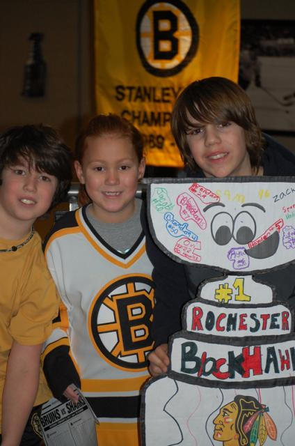 With Rochester Blackhawks player, Ryan Ellis: Photo submitted by Lisa Saucier