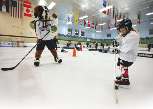 The Colorado Avalanche were one of 16 NHL teams that hosted a Try Hockey For Free event last year.