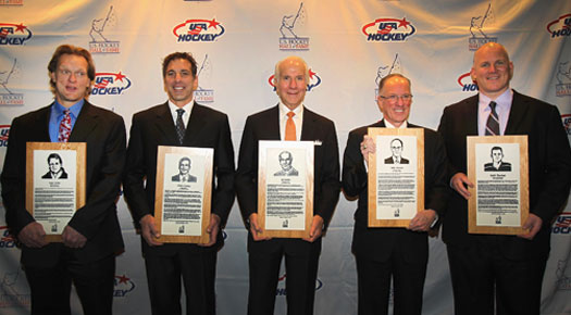 "The U.S. Hockey Hall of Fame Class of 2011 included Gary Suter, Chris Chelios, Ed Snider, Mike ""Doc"" Emrick and Keith Tkachuk."