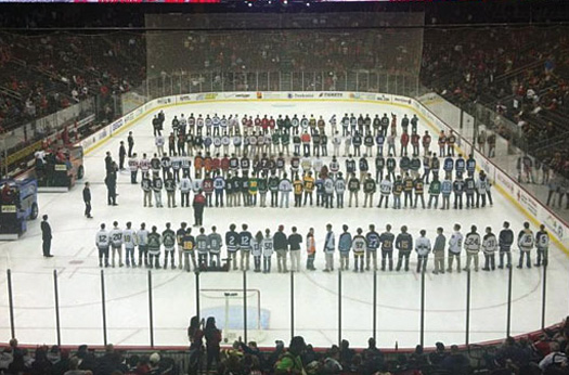 The New Jersey Devils honor the captains of every high school hockey team.