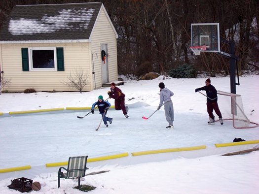 When he's not on the air, Buccigross can often be found on his backyard rink or at a local arena with his sons, Jackson and Brett.