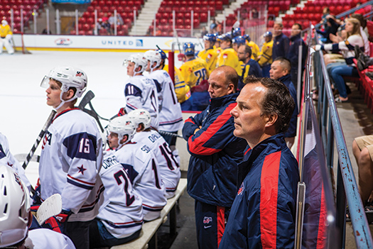 Jon Cooper's coaching success has led to many opportunities, including an engagement at the U.S. National Junior Evaluation Camp in Lake Placid, N.Y.