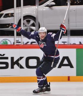 Alex Galchenyuk was instrumental in the bronze-medal victory against Finland.