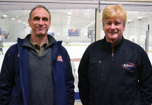 Long after their NHL careers were done, Mike McEwen, left, and Bob Crawford are still giving back to the game they love.