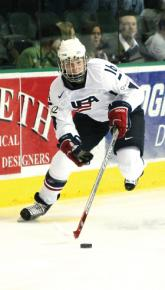 Hilary Knight will bring  her high-octane style of hockey to defending NCAA champions, the University  of Wisconsin.