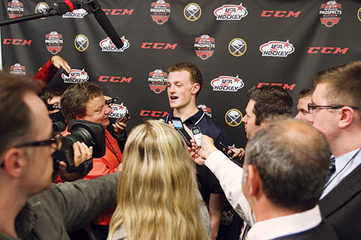 After the NHL's Central Scouting placed Jack Eichel at the top of the 2015 draft class, he was the center of attention in Buffalo.