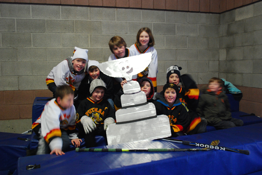 Everyone enjoyed having Flat Stanley Cup as our guest, here with the Putnam Squirts team.