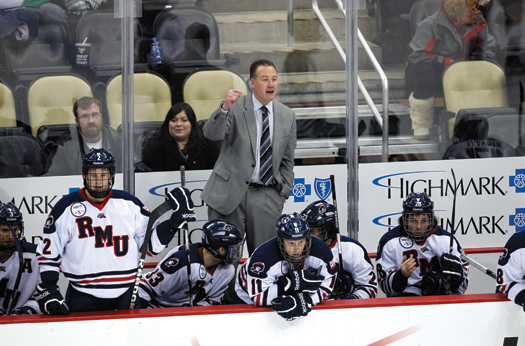 Under the direction of head coach Derek Schooley, Robert Morris University has scored several notable victories, including knocking off then-No. 1 Miami.