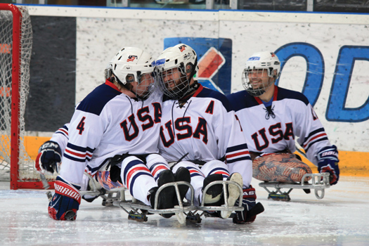 Taylor Lipsett and Alex Salamone makes the U.S. National Sled Hockey Team a force to be reckoned with heading into the 2014 Paralympic Winter Games in Sochi, Russia.