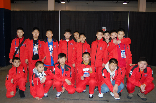 Flat Stanley Cup with Team China at the New York Islanders Lighthouse International Youth Hockey Tournament.: Photo submitted by New York Islanders