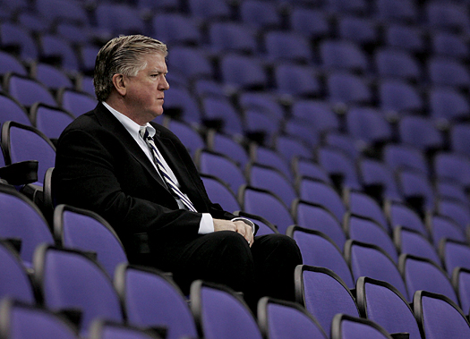 While Brian Burke is proud of his American roots, he enjoys the pressure placed upon him as the general manager of an NHL team in a Canadian city.