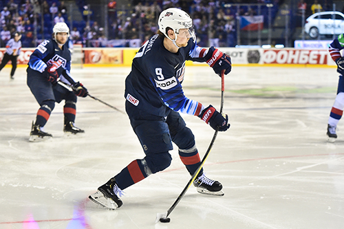 Buffalo Sabres captain Jack Eichel has been one of the most consistent and impactful forwards for the U.S. so far in Men's Worlds. Excluding the shutout loss to Canada, Eichel is the only American to tally a point in each contest.