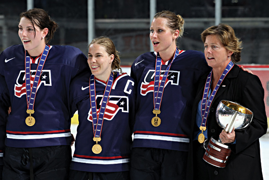 After celebrating a victory at the 2011 IIHF Women's World Championship, Katey Stone will look to bring home the gold when she leads the U.S. Women's Olympic Team at the 2014 Sochi Olympic Winter Games.