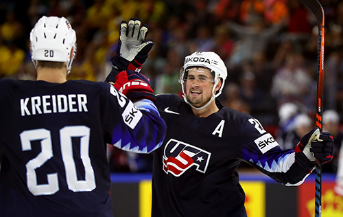 "Chris Kreider has already signed on to represent the U.S. in Slovakia in May. Will Larkin, who wore the ""A"" and contributed three goals and six assists in ten games last year come as well?"