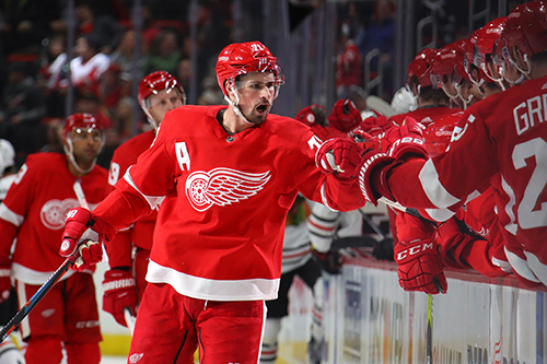 Teammates have been quick to praise Larkin's commitment to bettering himself both on and off the ice, leading to his ascent as a superstar for the storied franchise.