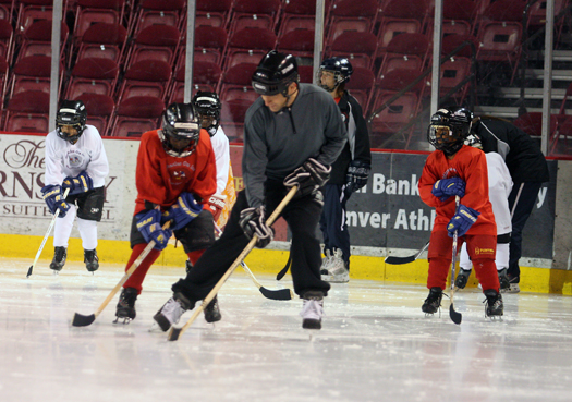 When 32 Denver youngsters show  up on Monday for the first day of the Miracles on Ice camp, they can barely skate. By Friday, they are playing a full scrimmage thanks to the support and guidance of area coaches.