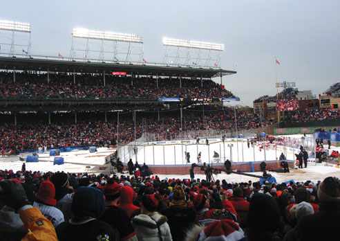 The game-time view from the seats at the NHL Winter Classic.