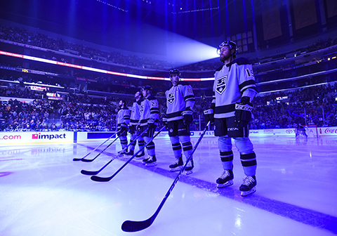 Iafallo and the Kings play in the Staples Center, which employs a dehumidification system that helps conserve energy in the Los Angeles-based arena.