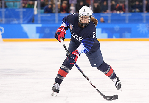 Stecklein scored her first IIHF competition goal this past week and then added another in the same game. Every defenseman on the team has contributed offensively and gotten on the scoresheet so far in the tournament.