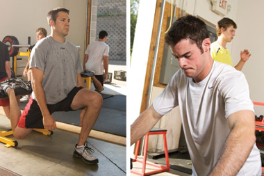 Andrew Alberts and Drew Stafford compete on the ice, as well as during training sessions with the ARPwave.